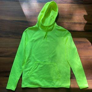 Nike Medium Women's Neon Green Therma fit hoodie
